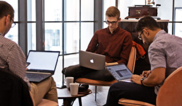 Digital native team at work