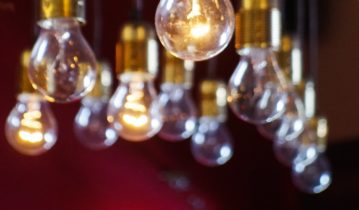 Light bulbs with exposed elements
